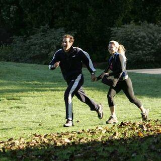 Eric & Danielle sprinting toward the Finish Line.