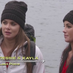 Dessie & Kayla are eliminated in 11th place after losing a footrace with April & Sarah.