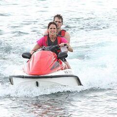 Margie & Luke on a Jet Ski.