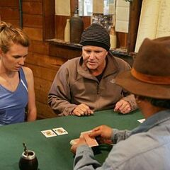 Steve & Allie playing poker during the <a href=