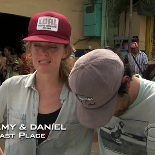 Amy & Daniel were eliminated from the race in 10th Place.