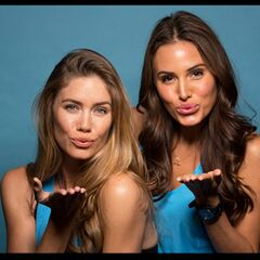 An Alternate promotional photo of Jessica & Brittany for <i>The Amazing Race</i>.