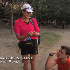 Margie & Luke were eliminated from the race in 8th place after Luke's troubles at the Roadblock.
