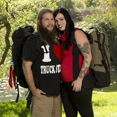 Mike &amp; Rochelle's alternate promotional photo for <i>The Amazing Race</i>.