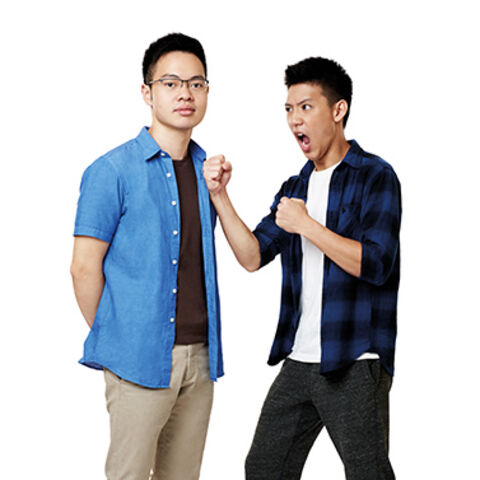 An alternate promotional photo of Alphaeus & Brandon for <i>The Amazing Race Asia</i>.