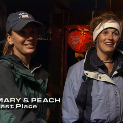Mary & Peach were eliminated from the race in 6th place.