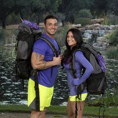 Matt &amp; Ashley's alternate promotional photo for <i>The Amazing Race</i>.