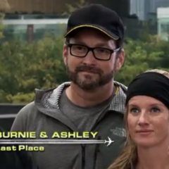 Burnie & Ashley are eliminated from the race in 4th place having gotten lost on foot in the pit stop vicinity.
