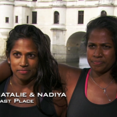 Natalie & Nadiya were eliminated from the race in 4th place after taking a wrong route.