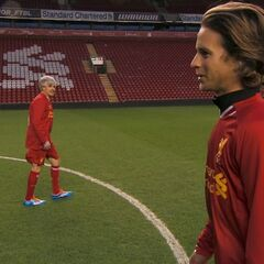 Dave & Connor at Anfield Stadium in <a href=