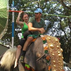Brendon & Rachel doing the <i>Pachyderm</i> Detour in the <a href=