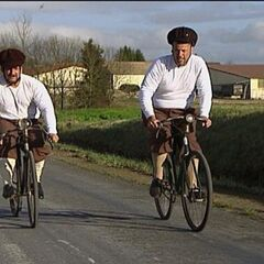 Louie & Michael bicycling their way to the firth leg's <a href=
