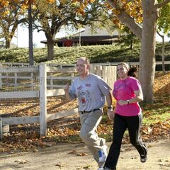 Dave & Cherie running to the <a href=