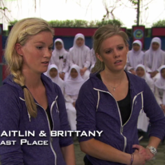 Caitlin & Brittany were eliminated from the race in 9th Place after their pedicab driver took a wrong turn.
