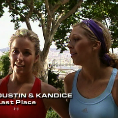 Dustin & Kandice were eliminated from the race in 4th Place.