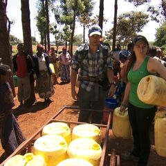 Brendon & Rachel doing the <i>Water Supply</i> Detour as a result of being <a href=