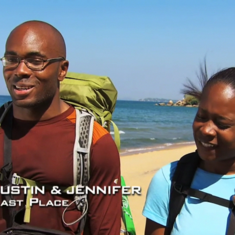 Justin & Jennifer were eliminated from the race in 7th Place after Jennifer's crisis at the Roadblock.