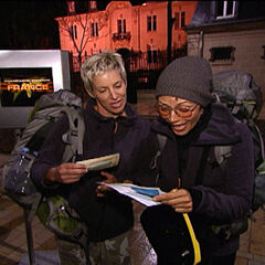 Carol & Brandy counting their money at the beginning of the <a href=