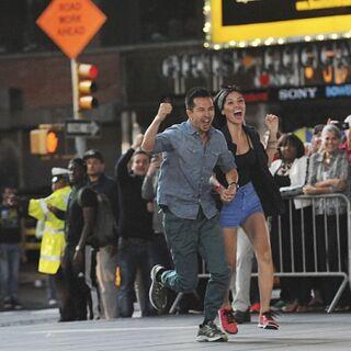 Dennis & Isabelle arrive at the <a href=
