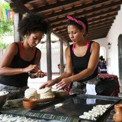 Kerri &amp; Stacy making Empanadas during the <a href=