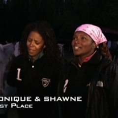 Monique & Shawne were eliminated from the race in 9th Place.