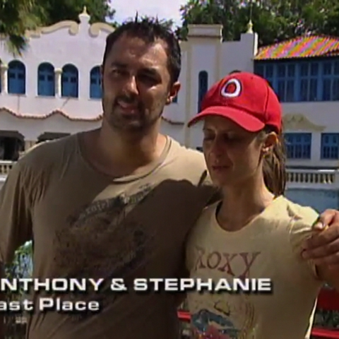 Anthony & Stephanie were eliminated from the race in 10th Place.