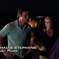 Chad & Stephanie were eliminated from the race in 5th Place after having been <a href=