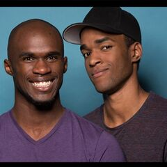 An alternate promotional photo of Darius & Cameron for <i>The Amazing Race</i>.
