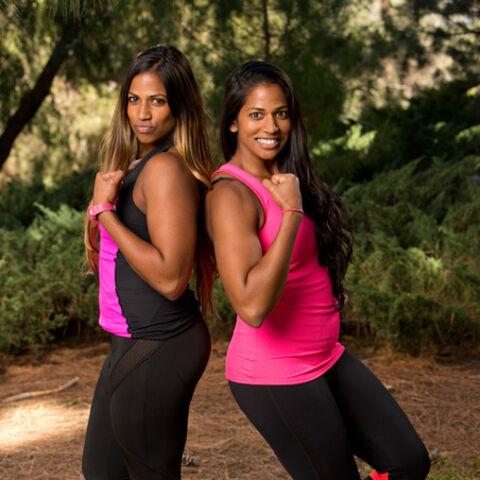 Natalie &amp; Nadiya's alternate promotional photo for <i>The Amazing Race: All-Stars</i>.