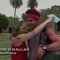 Toni & Dallas finish 2nd on Leg 7.