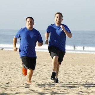 Alex & Adam running to the <a href=
