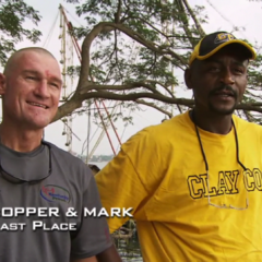 Bopper & Mark were eliminated from the race in 5th Place despite winning the Fast Forward.