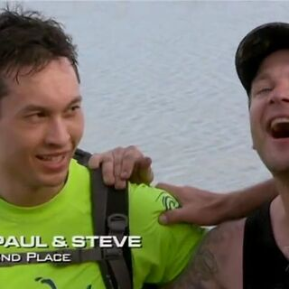 Paul & Steve finished the race in 2nd place.