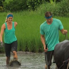 Adam & Bethany plowing though the rice paddy in the tenth.