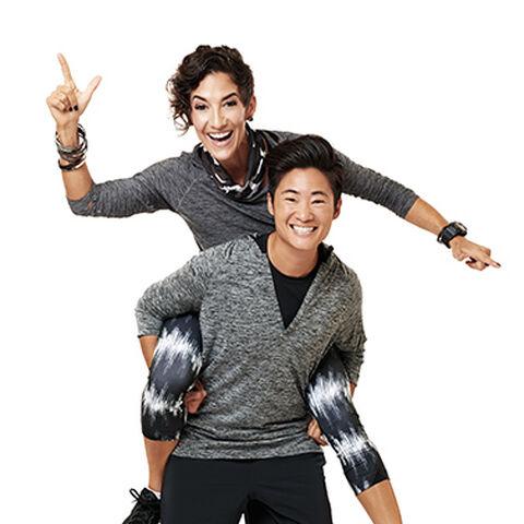 An alternate promotional photo of Lisa & Nicole for <i>The Amazing Race Asia</i>.