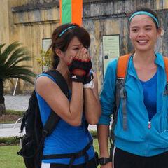Diệp Lâm Anh & Thu Hiền win this race .