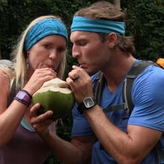 Adam & Bethany drinking out of a coconut in the <a href=