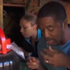Nicole & Travis eating cobra in the <a href=