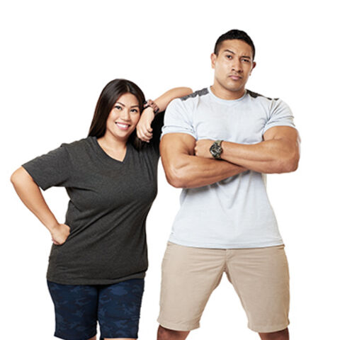 An alternate promotional photo of Eric & Rona for <i>The Amazing Race Asia</i>.