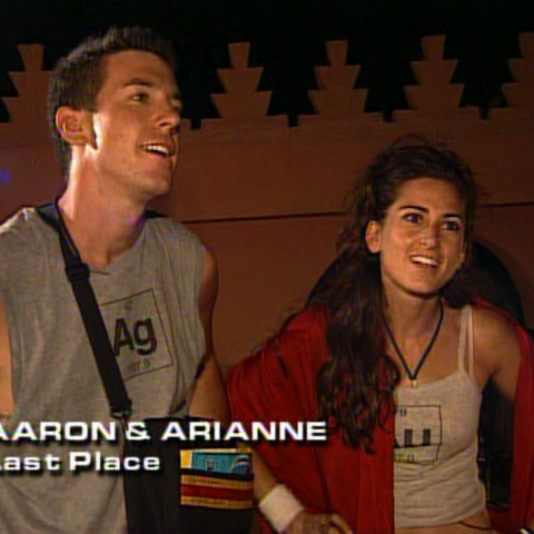 Aaron & Arianne were eliminated from the race in 7th place.
