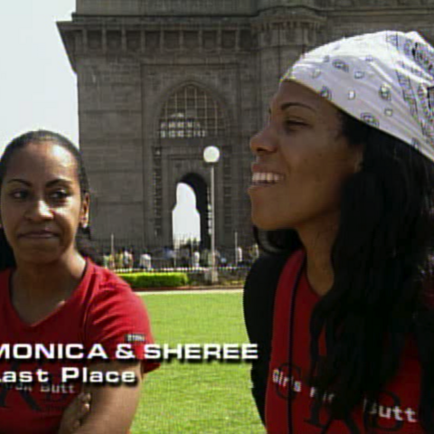 Monica & Sheree were eliminated from the race in 7th place.