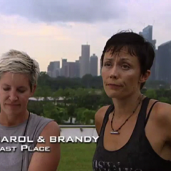 Carol & Brandy were eliminated from the race in 5th place after having been U-Turned by Brent & Caite.