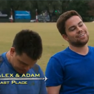 Alex & Adam were eliminated from the race at 10th place.