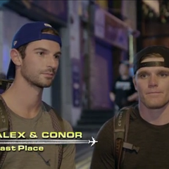 Alex & Conor are eliminated from the race in 4th place after did not find the three signs by Lan Kwai Fong.