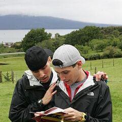 Dan & Jordan reading the <a href=