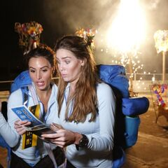 Jessica & Brittany reading their next clue.