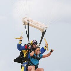 Nary skydiving as a part of Jamie's <a href=