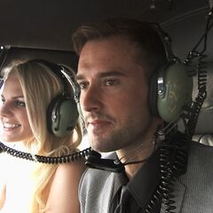 Hayley &amp; Blair in a Helicopter during the <a href=