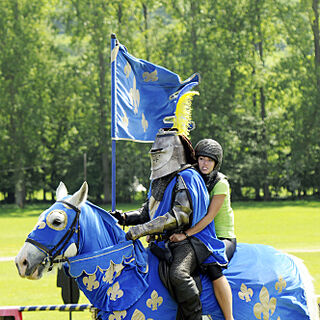 Rachel riding a knight in the first part of the <a href=