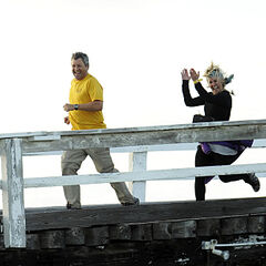 Gary & Mallory running to the <a href=